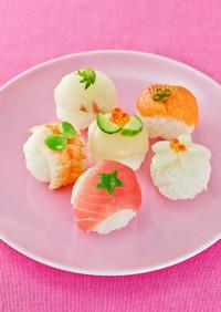 ひな祭りに!ひとくち手まり寿司