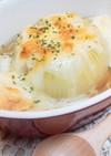 丸ごと玉ねぎ☆麩のオニオングラタンスープ