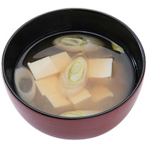 長ねぎと豆腐のみそ汁