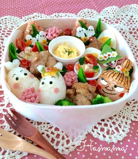 春よ来い来い♡ムーミンのお弁当♪キャラ弁