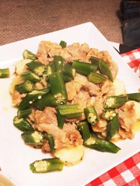 レンジで簡単☆豚肉と長芋の中華蒸し