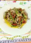 タラの芽と豚肉の香り炒め