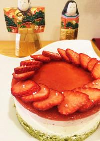 ひなまつり3色ムースケーキ
