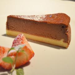 チョコレートのチーズケーキ