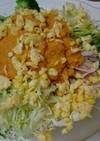 マルちゃん正麺でラーメンサラダ。