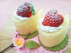 市販ロールで簡単♪ひなまつり☆苺ケーキ