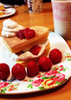 幸せハートのパンケーキ♡