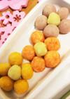 離乳食で簡単ひな祭り☆お花のお団子