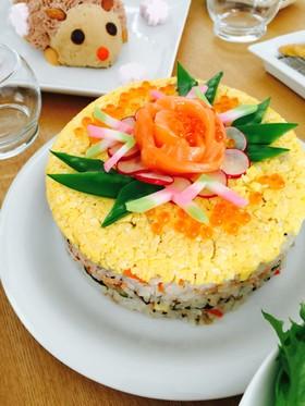 イベントに、簡単ちらし寿司ケーキ。
