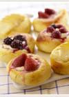 フルーツとクリームチーズのパン