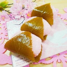 道明寺粉不使用!電子レンジで簡単本物桜餅