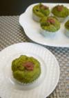 HMと豆腐で♪ 抹茶風味の桜蒸しパン❀