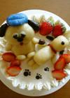 スヌーピーとオラフのケーキ