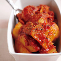 じゃがいもとツナのトマト煮