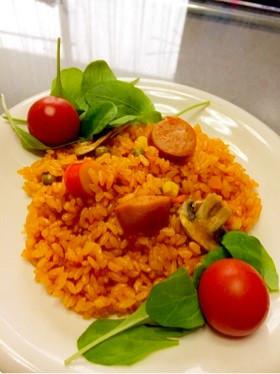 野菜ジュース炊き込みピラフ・炊き込みご飯