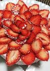とろける♡オレオと苺のレアチーズケーキ