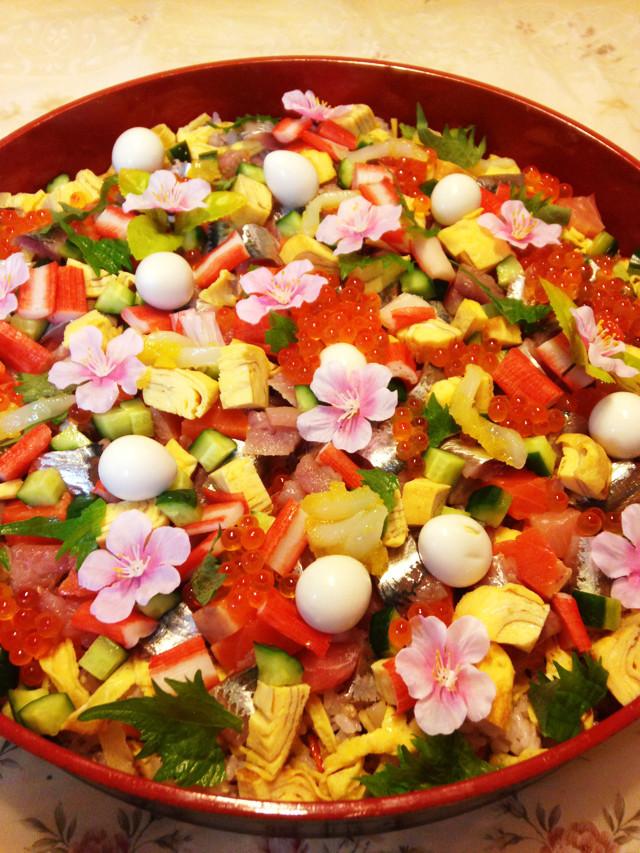 ひな祭り♡お花のちらし寿司