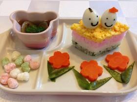 離乳食後期ひな祭り*菱餅型のちらし寿司風