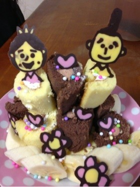 簡単♡ひなケーキ