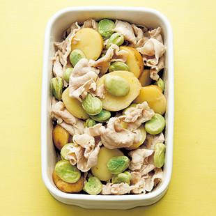 豚肉と春野菜のゆずこしょうマリネ