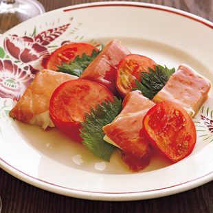 生ハムと豆腐のオイルマリネ