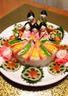ひな祭りのちらし寿司ケーキ