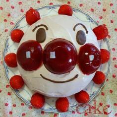 アンパンマンの立体ケーキ