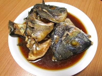 黒鯛のアラ煮