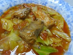 サバ水煮缶とトマトのスープ
