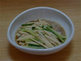 大和芋ときゅうりの酢の物