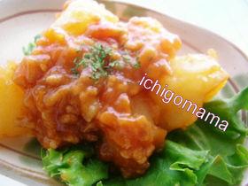 ジャガイモとひき肉のトマト煮