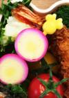 お弁当に華やか☆ピンクのうずらの卵
