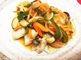 万能♡野菜甘酢あん♡鮭、鱈、厚揚げなどに