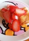 卵なし!苺のもちもちパンケーキ(^^♪