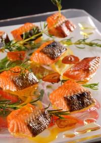 紅鮭の塩麹ガーリック風味焼