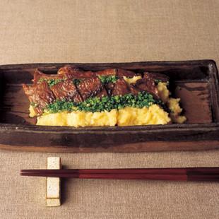 牛肉の味噌漬け焼き
