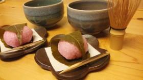 レンジで簡単♪桜餅(道明寺)