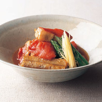 金目鯛とトマトのうま煮