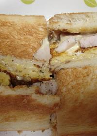 卵とチーズのホットサンド☆