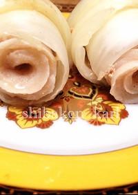 巻き薔薇みたいなクロワッサン型ロール白菜