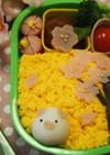 デコ弁♡うずらぶたさんと桜弁当