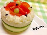 ケーキ風マッシュポテト♡誕生日やお祝いにの写真