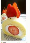 春限定!大好きあまおうのロールケーキ