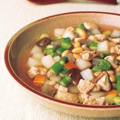 大豆と鶏肉のミネストローネ風