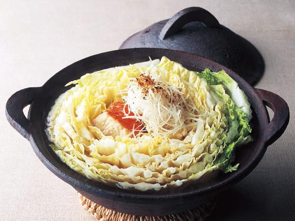 金目鯛と白菜のぼたん鍋