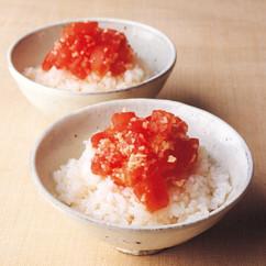 トマトのっけご飯