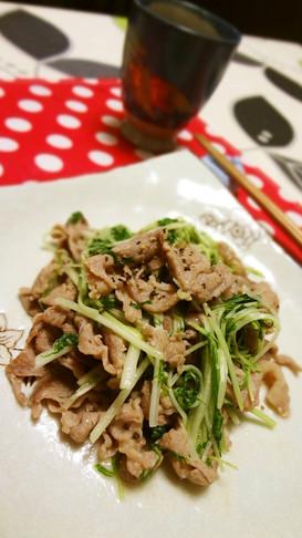 豚肉と水菜の中華炒め