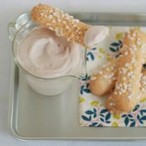 ビスキュイといちごクリーム
