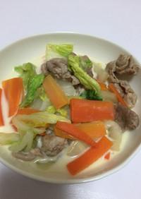 簡単☆豆乳仕立ての野菜炒め