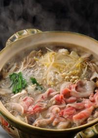 きのこと豚肉の中華風塩麹鍋
